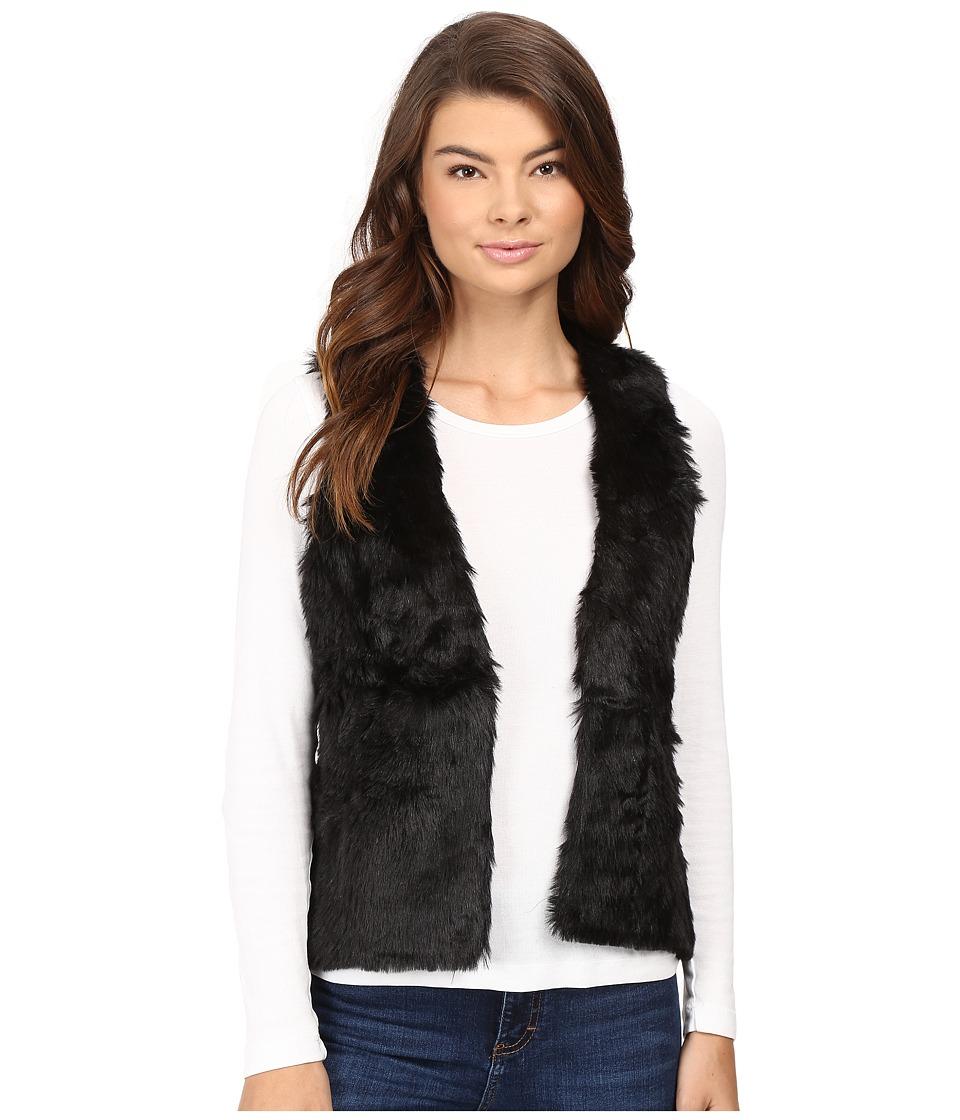 Stetson - Faux Fur Cropped Vest (Black) Women's Vest