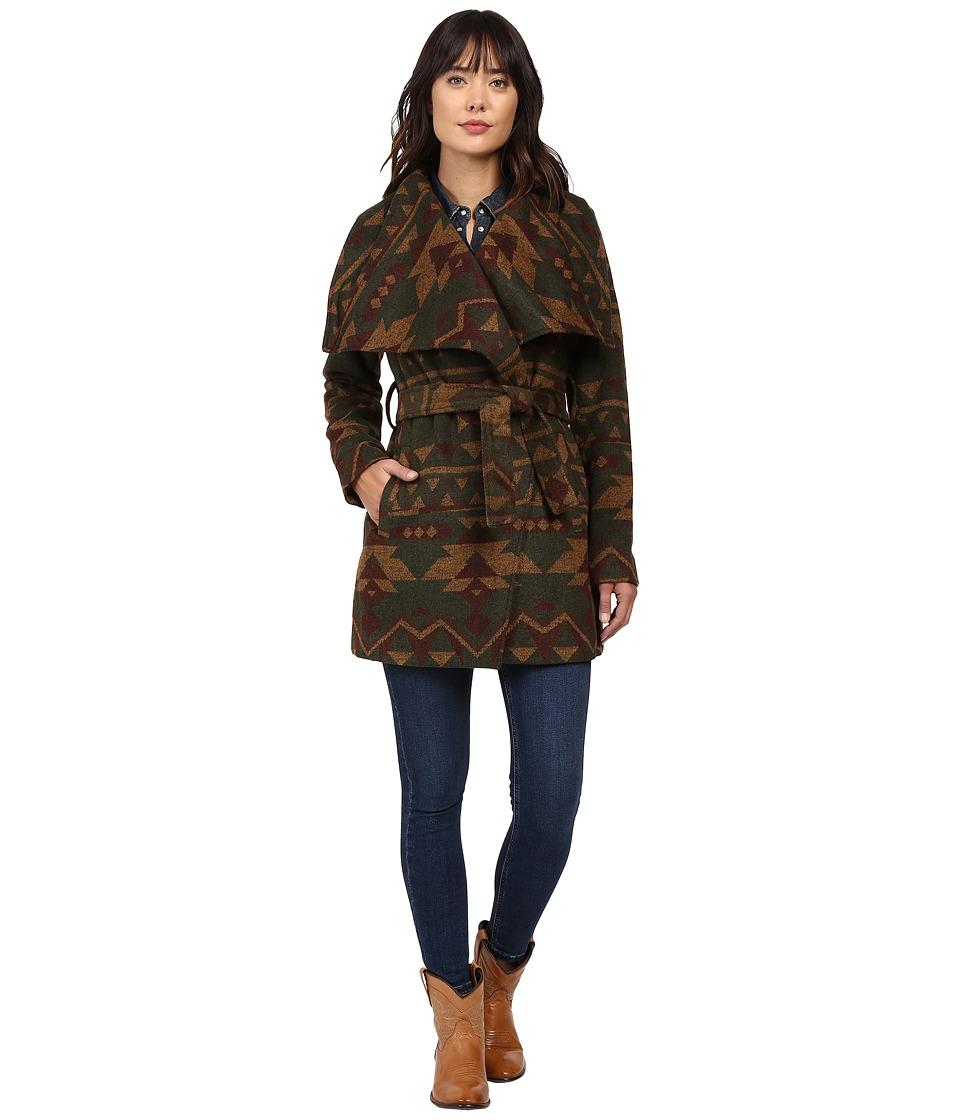 Stetson - Pueblo Serape Jacket (Green) Women's Coat