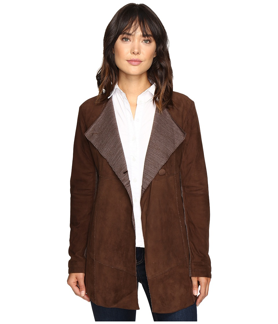 Stetson - Suede Long Jacket (Brown) Women's Coat