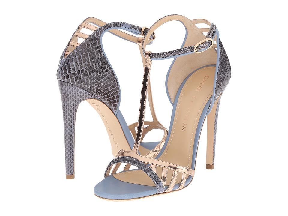 CHLOE GOSSELIN - Hyacinth (Blue/Rose Gold) Women's Dress Sandals