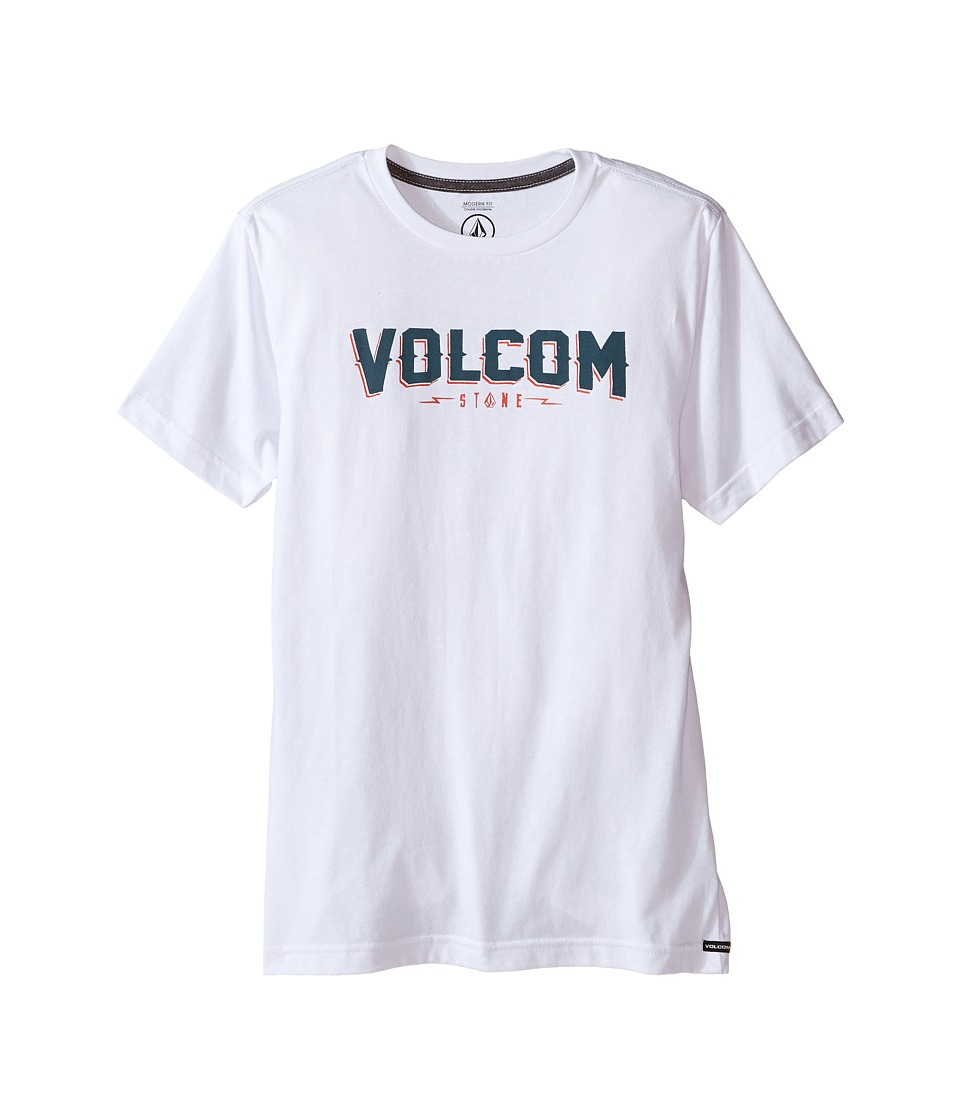 Volcom Kids - Dark Sport Short Sleeve Tee (Big Kids) (White) Boy's T Shirt