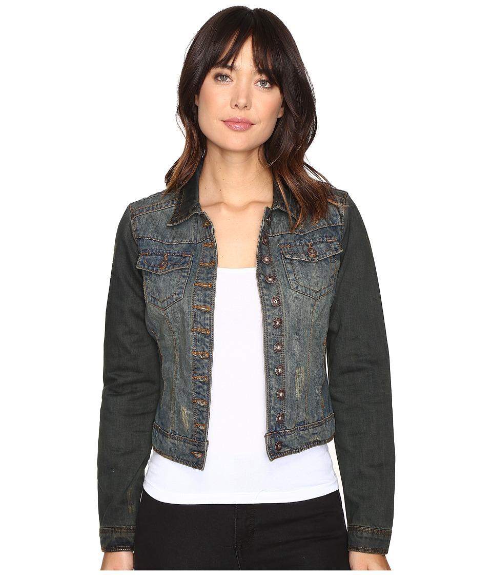 Stetson - Denim Shrunken Jacket Overdyed (Blue) Women's Coat