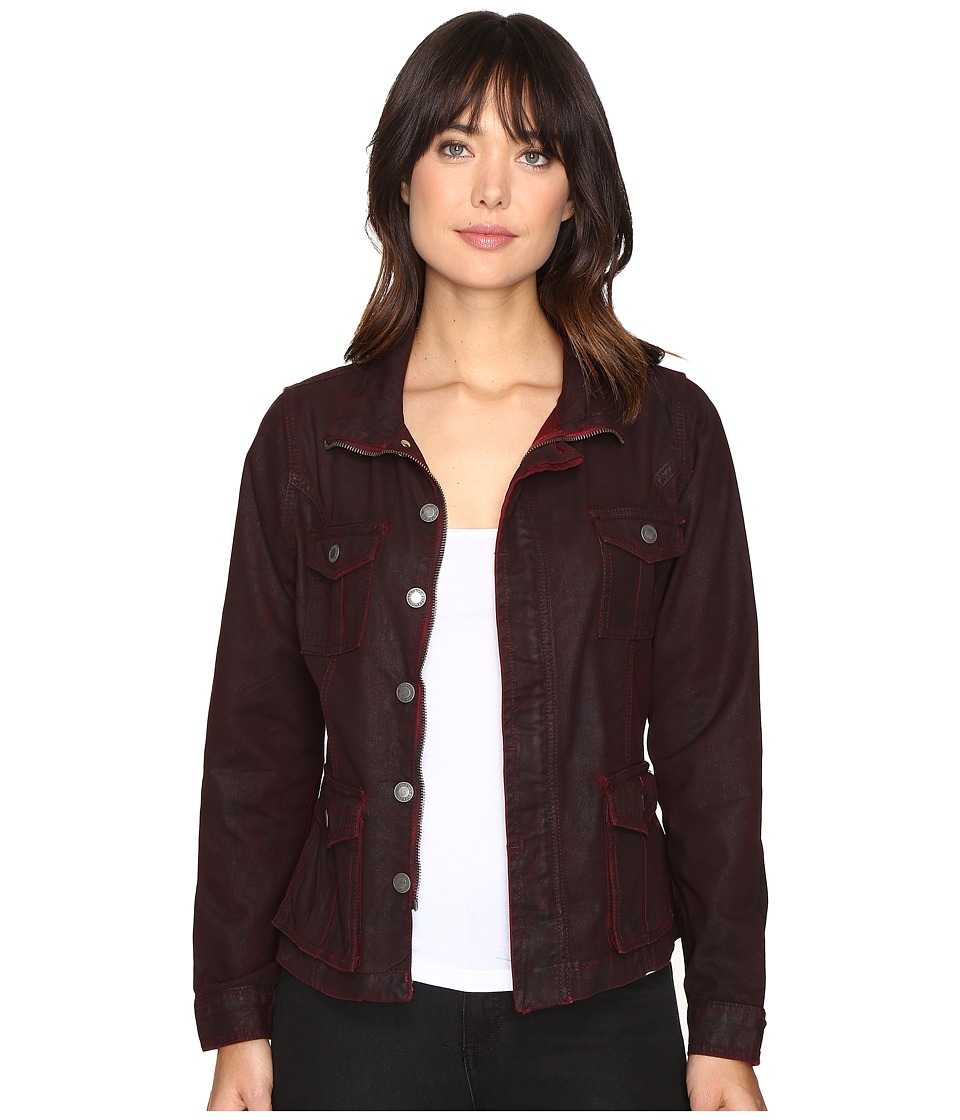 Stetson - Coated Twill Denim Look Jacket (Red) Women's Coat