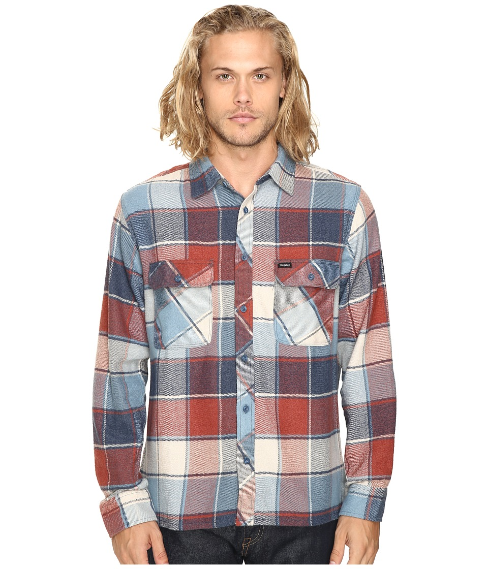 Brixton - Archie Long Sleeve Flannel (Light Blue Plaid) Men's Long Sleeve Button Up