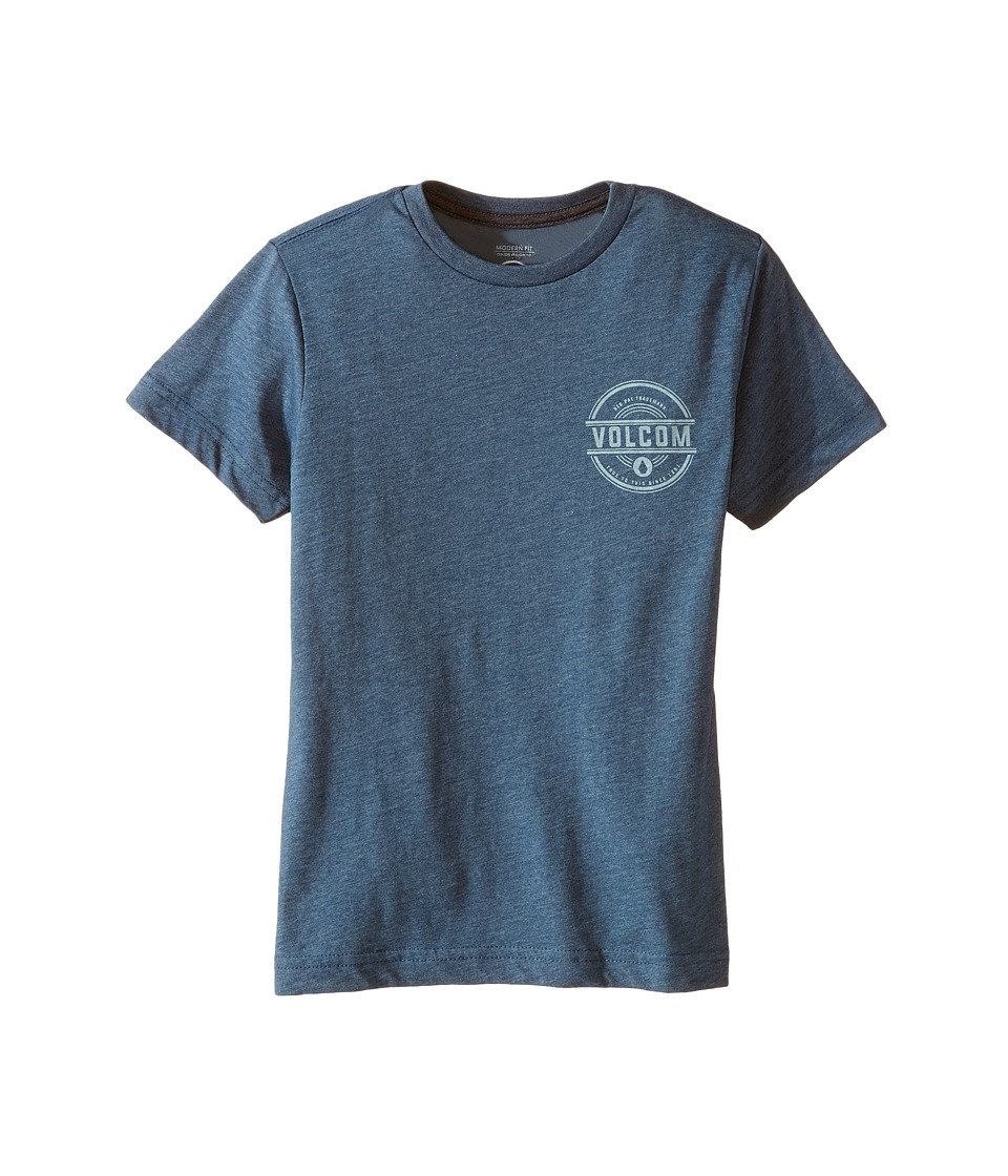 Volcom Kids - Jammer Short Sleeve Tee (Toddler/Little Kids) (Airforce Blue) Boy's T Shirt