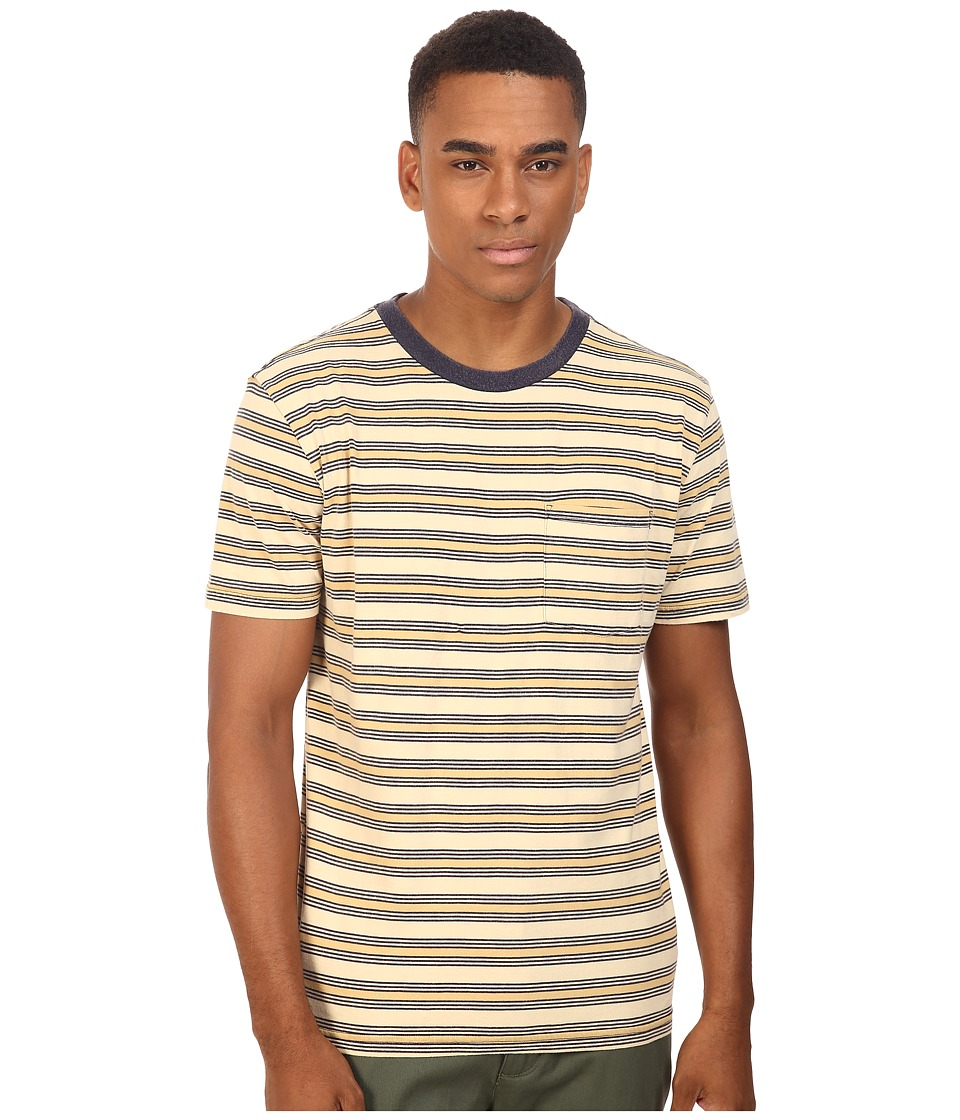 Brixton - Hilt Short Sleeve Pocket Knit (Tan/Bronze) Men's Short Sleeve Pullover