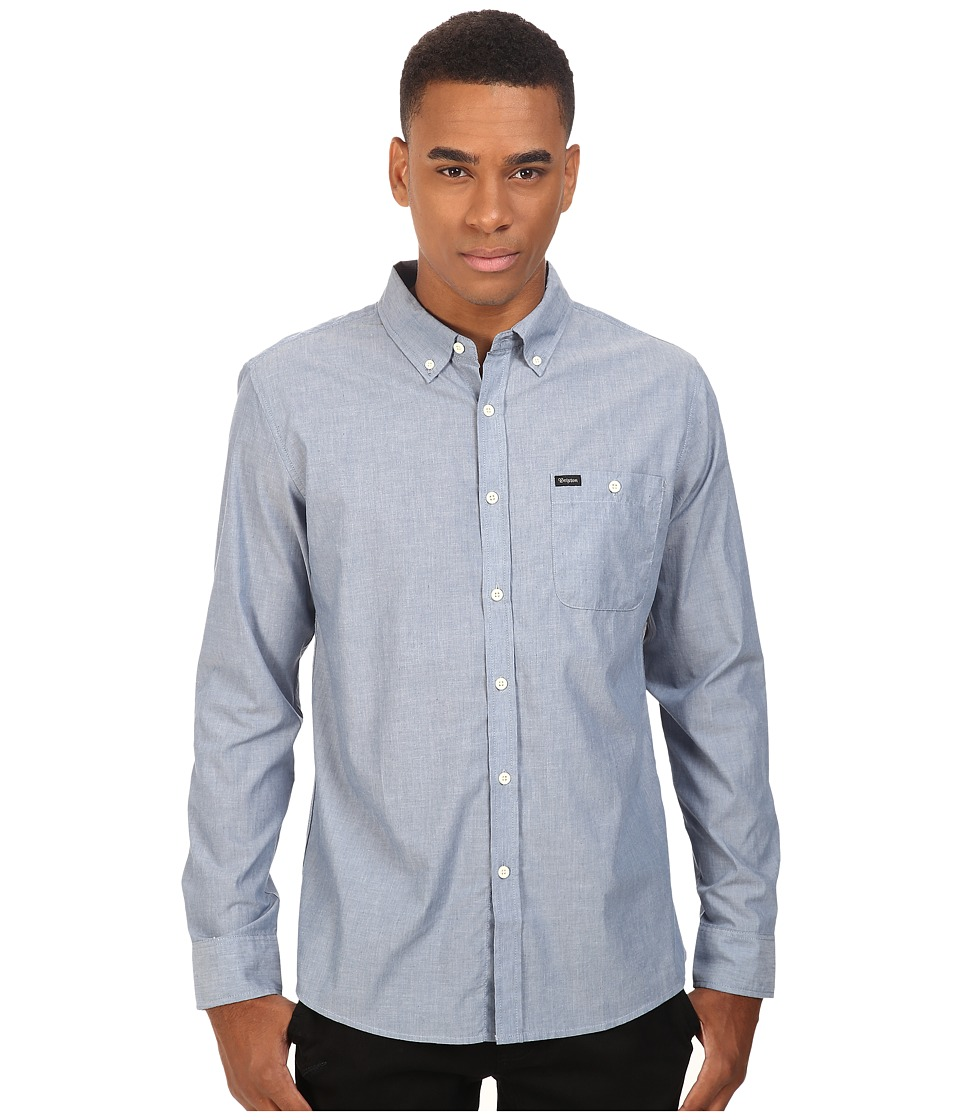 Brixton - Central Long Sleeve Woven (Light Blue Chambray) Men's Long Sleeve Button Up
