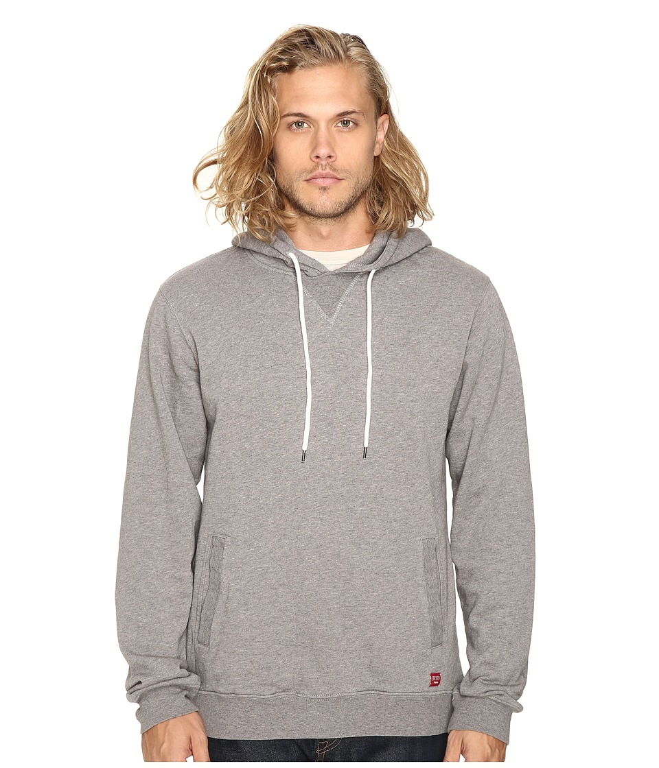 Brixton - Damo Hood Fleece (Charcoal Heather) Men's Fleece