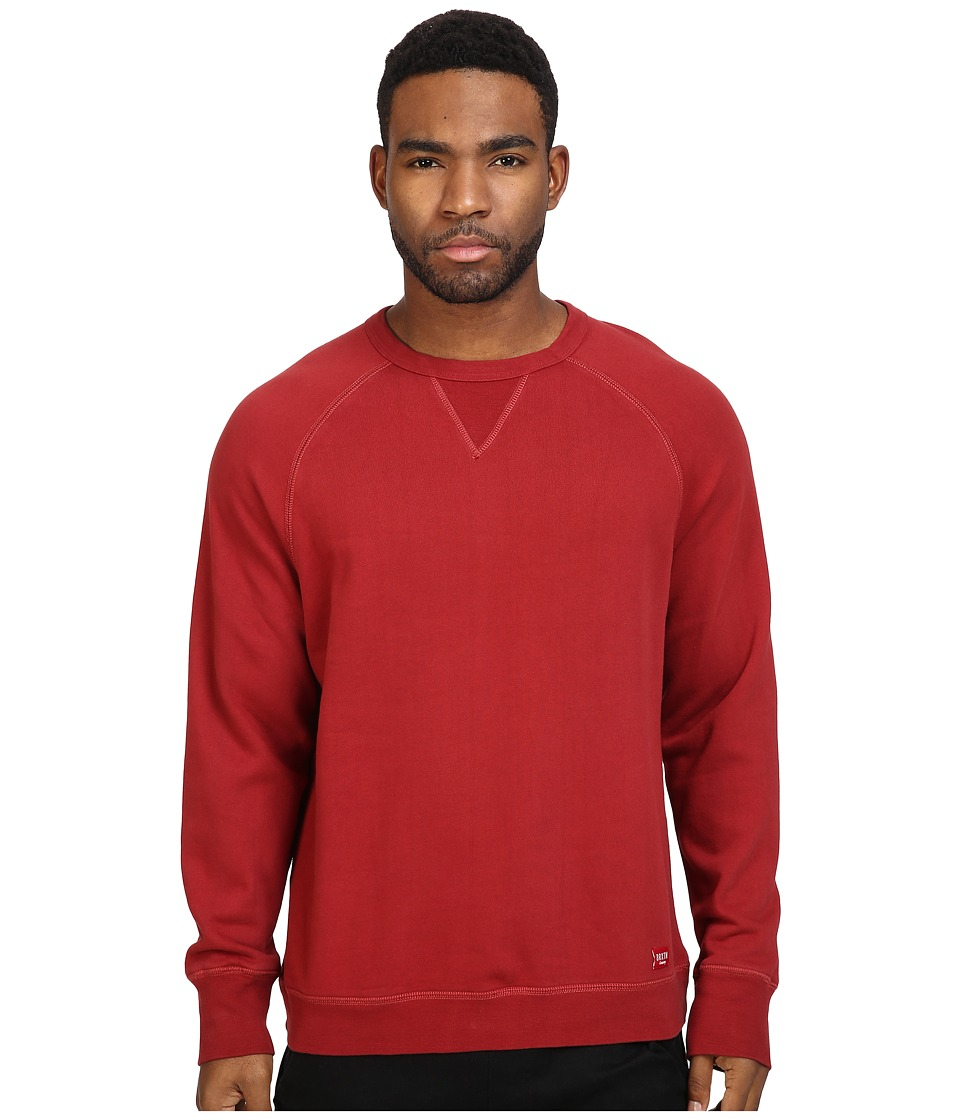 Brixton - Damo Crew Fleece (Burgundy) Men's Fleece