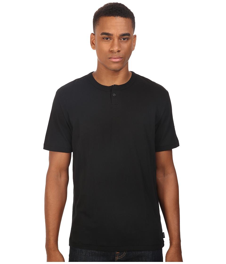 Brixton - Addison Short Sleeve Henley (Black) Men's Short Sleeve Pullover