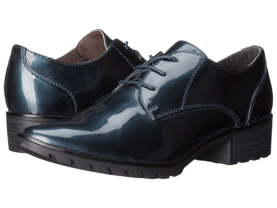 Tamaris - Phanie 1-1-23304-27 (Navy Patent) Women's Lace up casual Shoes