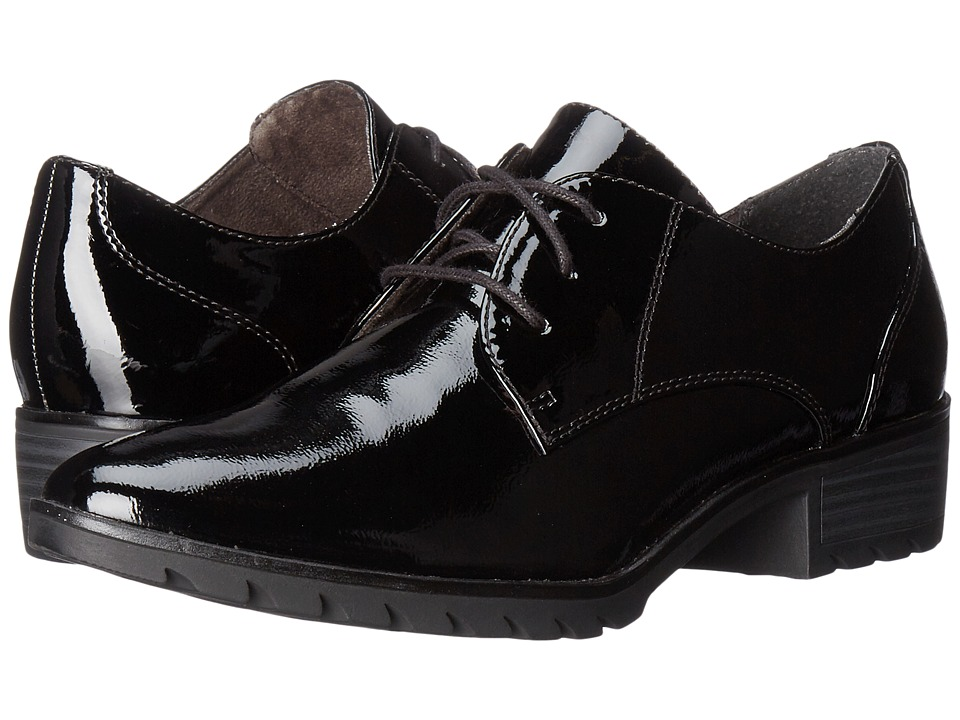 Tamaris - Phanie 1-1-23304-27 (Black Patent) Women's Lace up casual Shoes