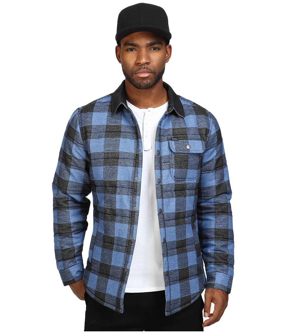 Brixton - Cass Jacket (Blue Plaid) Men's Jacket
