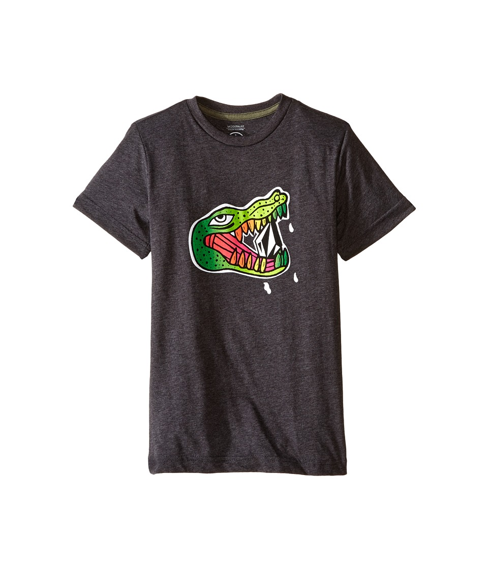 Volcom Kids - Gatorize Short Sleeve Tee (Toddler/Little Kids) (Black Heather) Boy's T Shirt