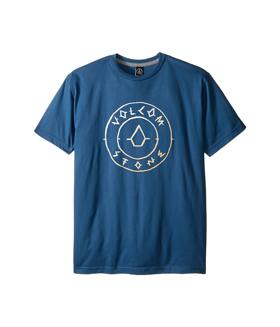 Volcom Kids - Scribe Short Sleeve Tee (Big Kids) (Smokey Blue) Boy's T Shirt