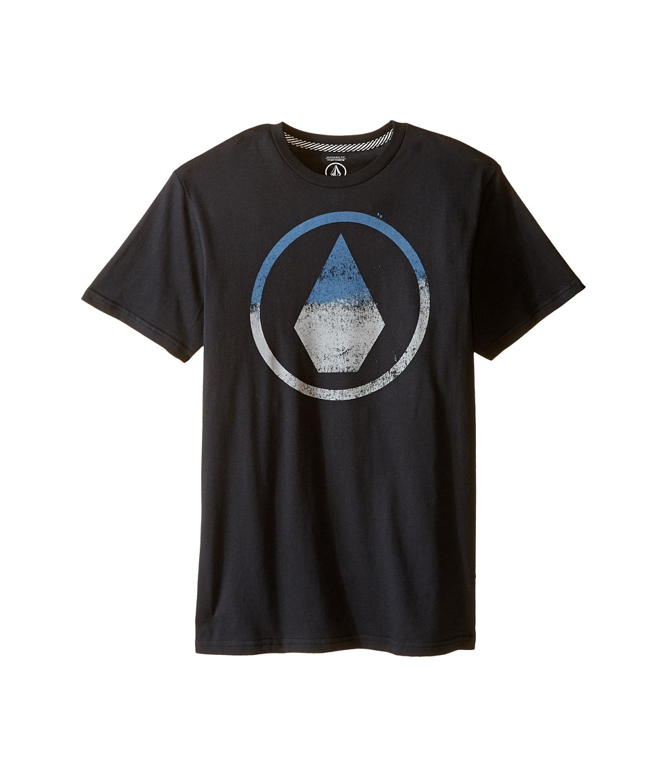 Volcom Kids - Canvas Stone Short Sleeve Tee (Big Kids) (Black) Boy's T Shirt