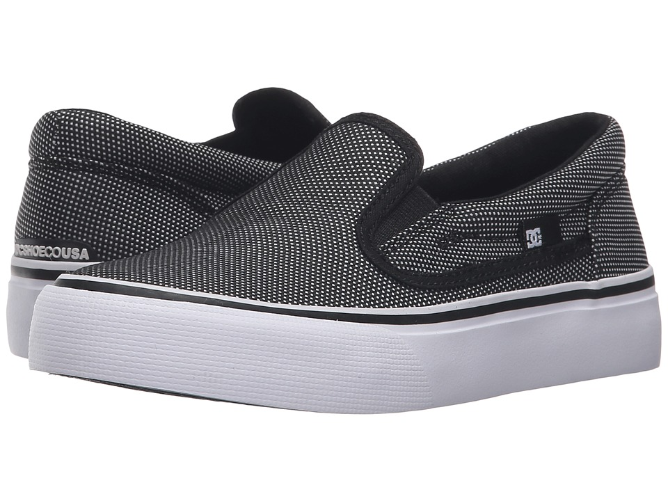 DC Kids Trase Slip-On SE (Little Kid) (Black/Glow 2) Boys Shoes