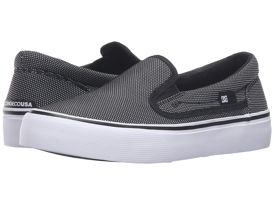DC Kids - Trase Slip-On SE (Big Kid) (Black/Glow 2) Boys Shoes