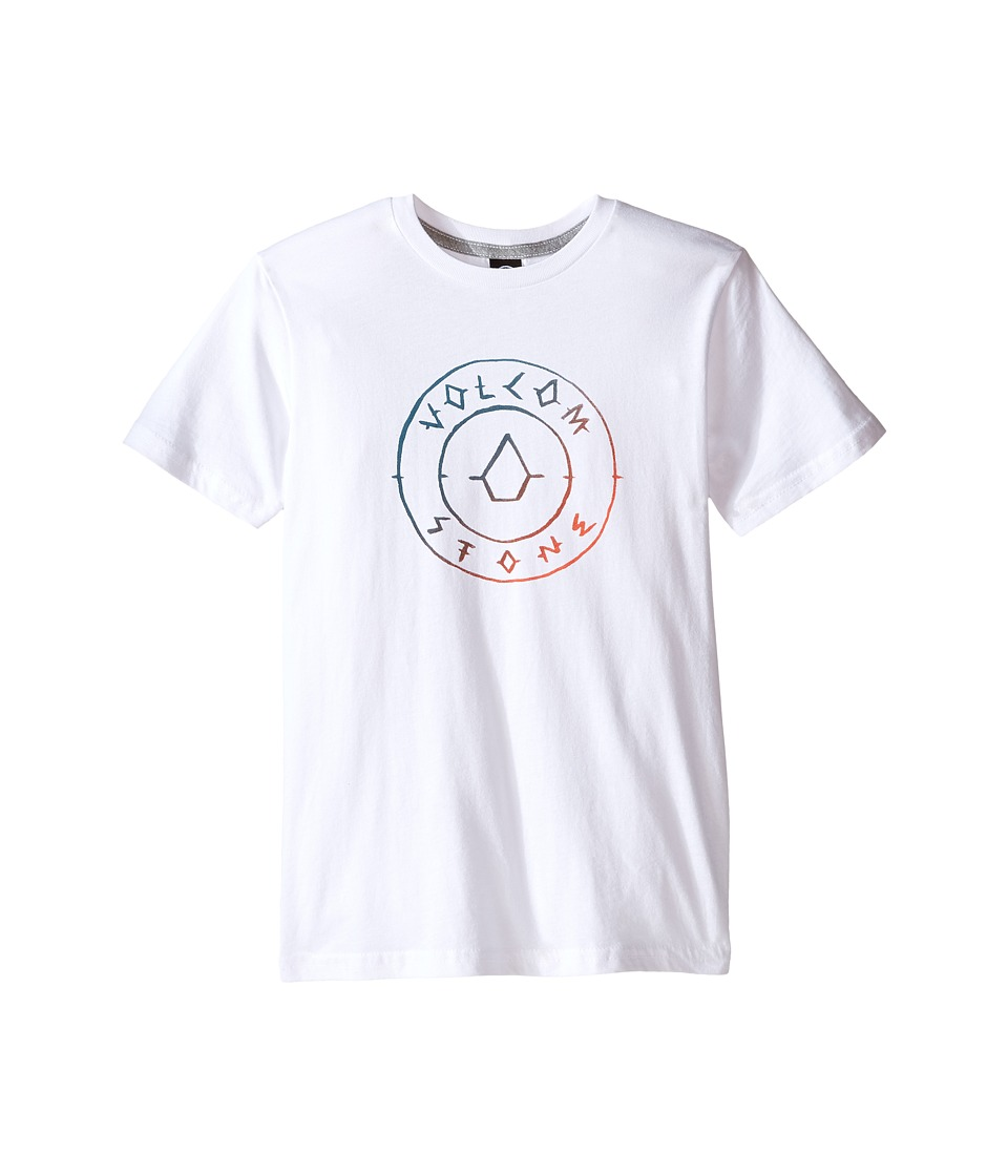 Volcom Kids - Scribe Short Sleeve Tee (Toddler/Little Kids) (White) Boy's T Shirt