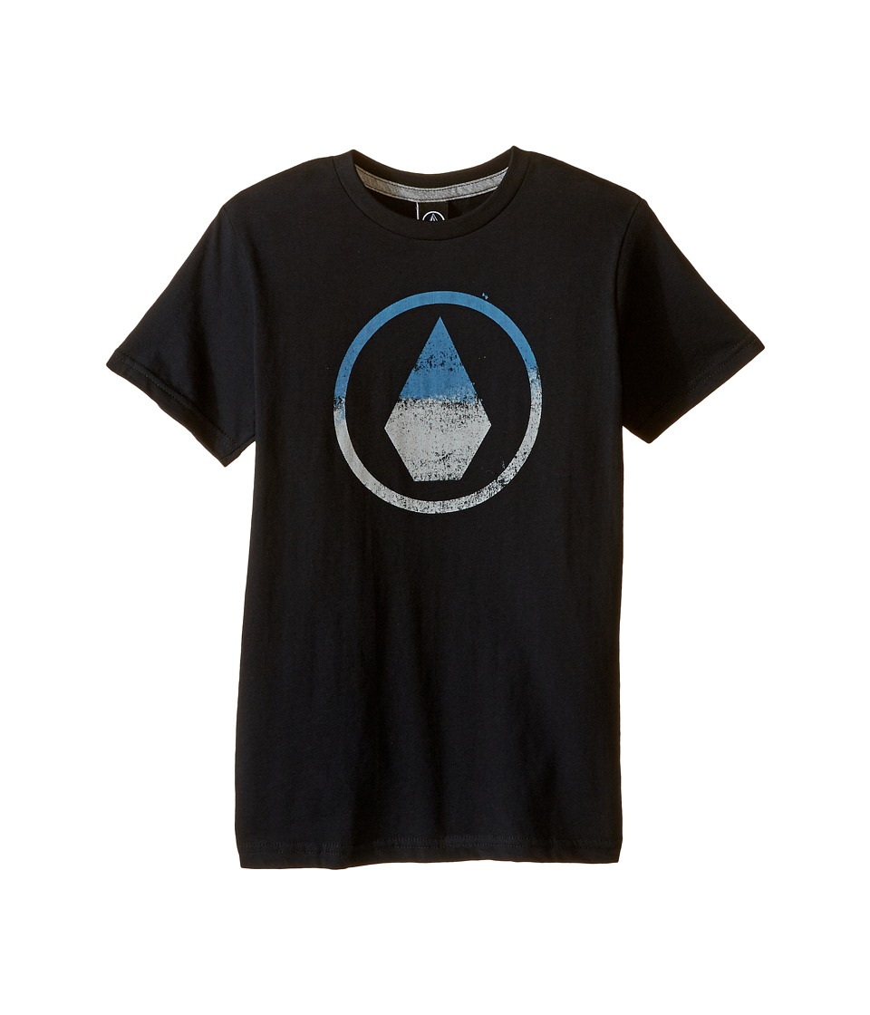 Volcom Kids - Canvas Stone Short Sleeve Tee (Toddler/Little Kids) (Black) Boy's T Shirt