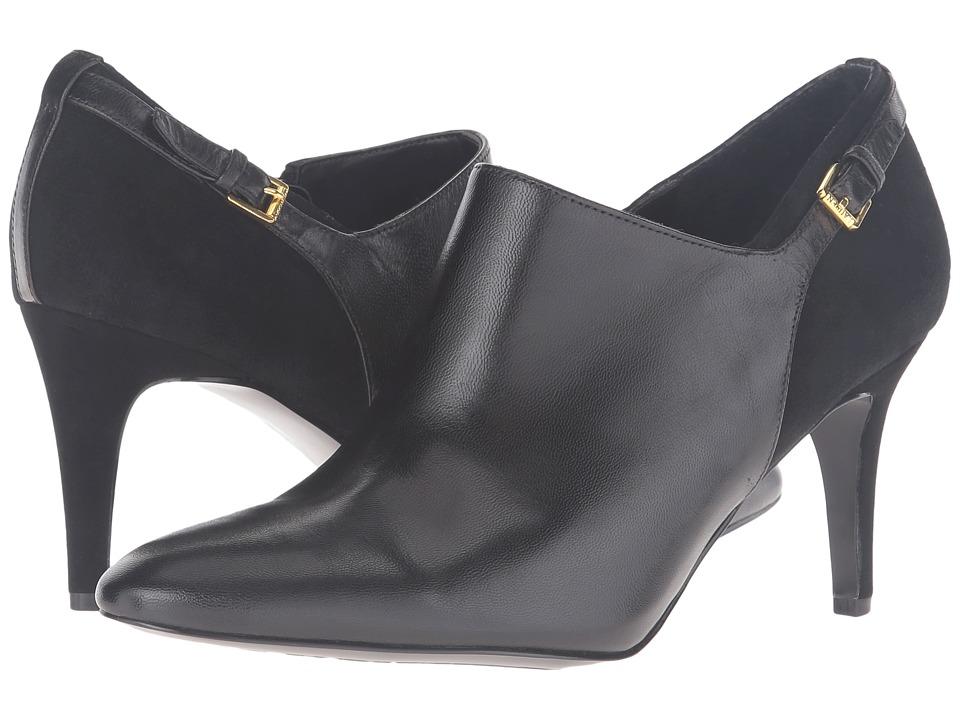 LAUREN Ralph Lauren Pabla Black Kidskin-Kid Suede Womens Dress Sandals