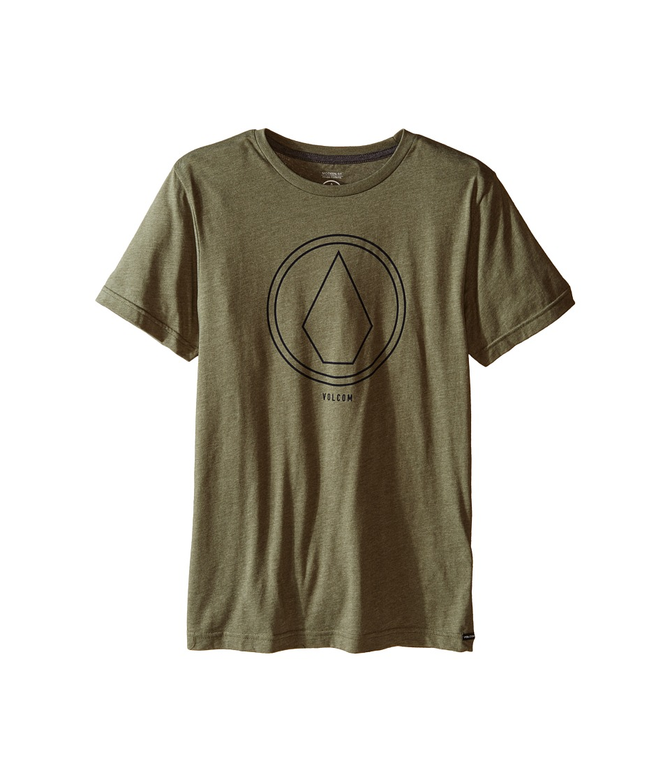 Volcom Kids - Pin Line Stone Short Sleeve Shirt (Big Kids) (Vineyard Green Heather) Boy's T Shirt