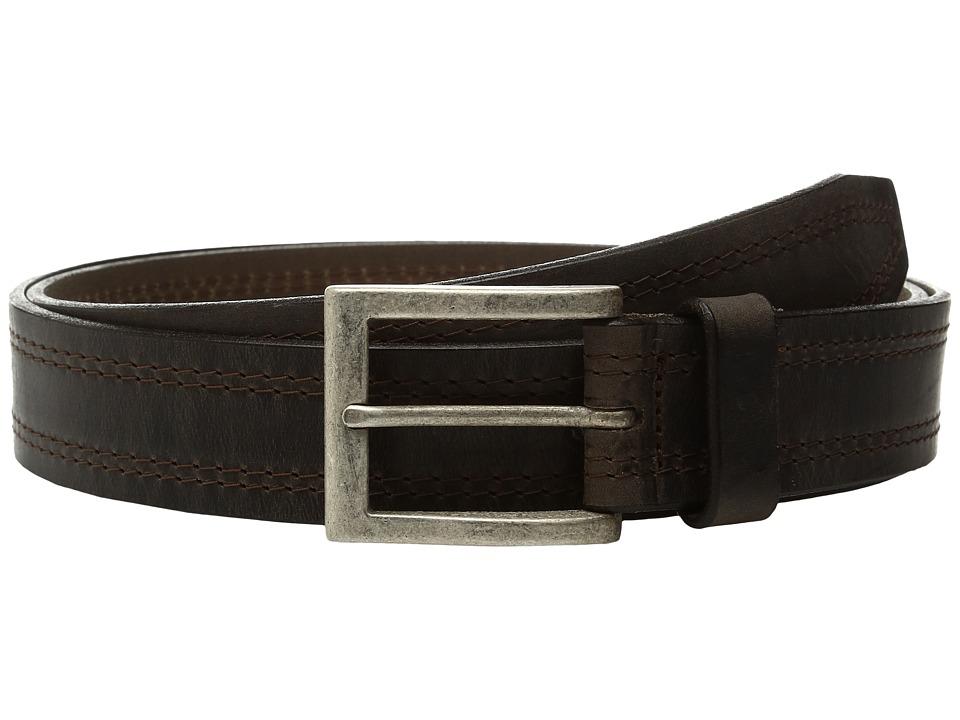 Johnston & Murphy - Double Stitch (Dark Brown) Men's Belts