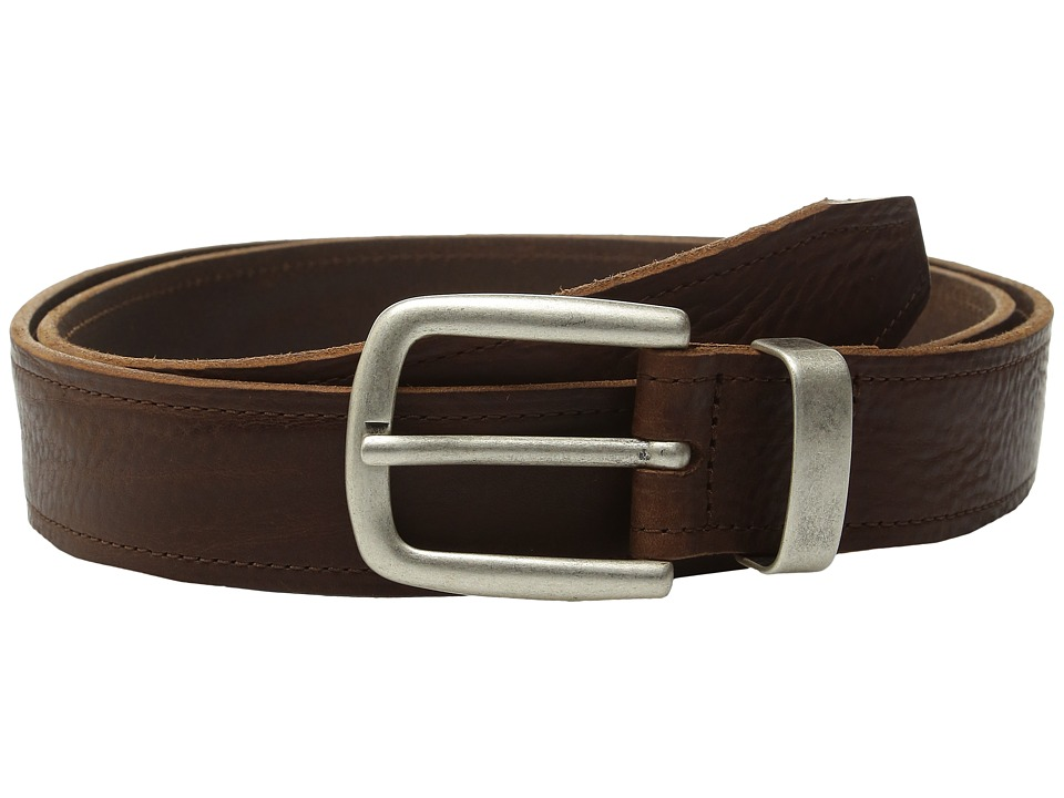 Johnston & Murphy - Casual Raised Leather (Brown) Men's Belts