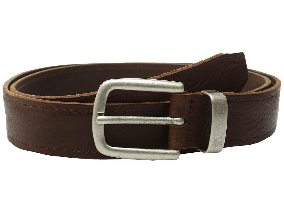 Johnston & Murphy - Casual Raised Leather (Brown) Men's Belts