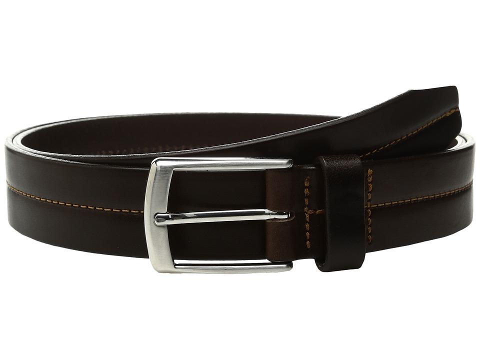 Johnston & Murphy - Center Stitch Casual (Brown) Men's Belts