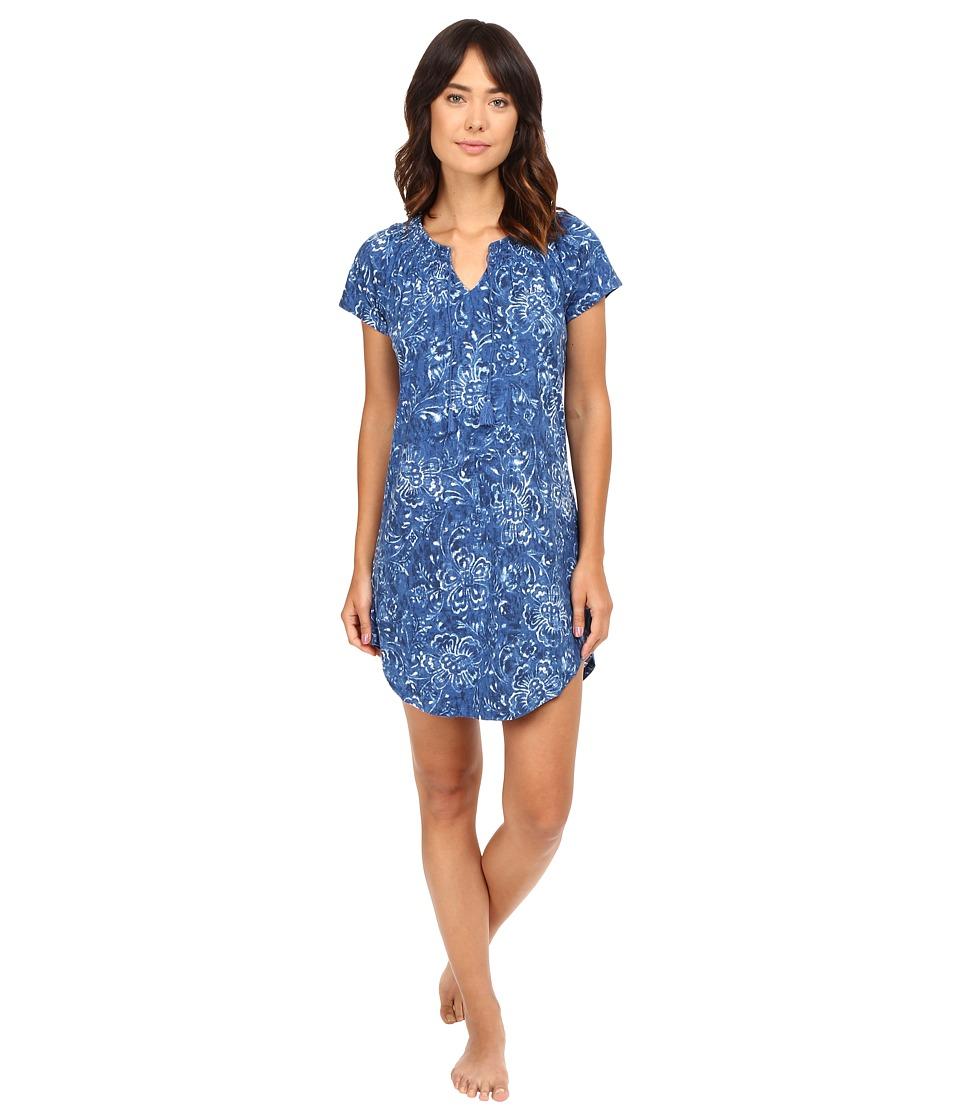 LAUREN Ralph Lauren - Knit Short Gown (Floral) Women's Pajama