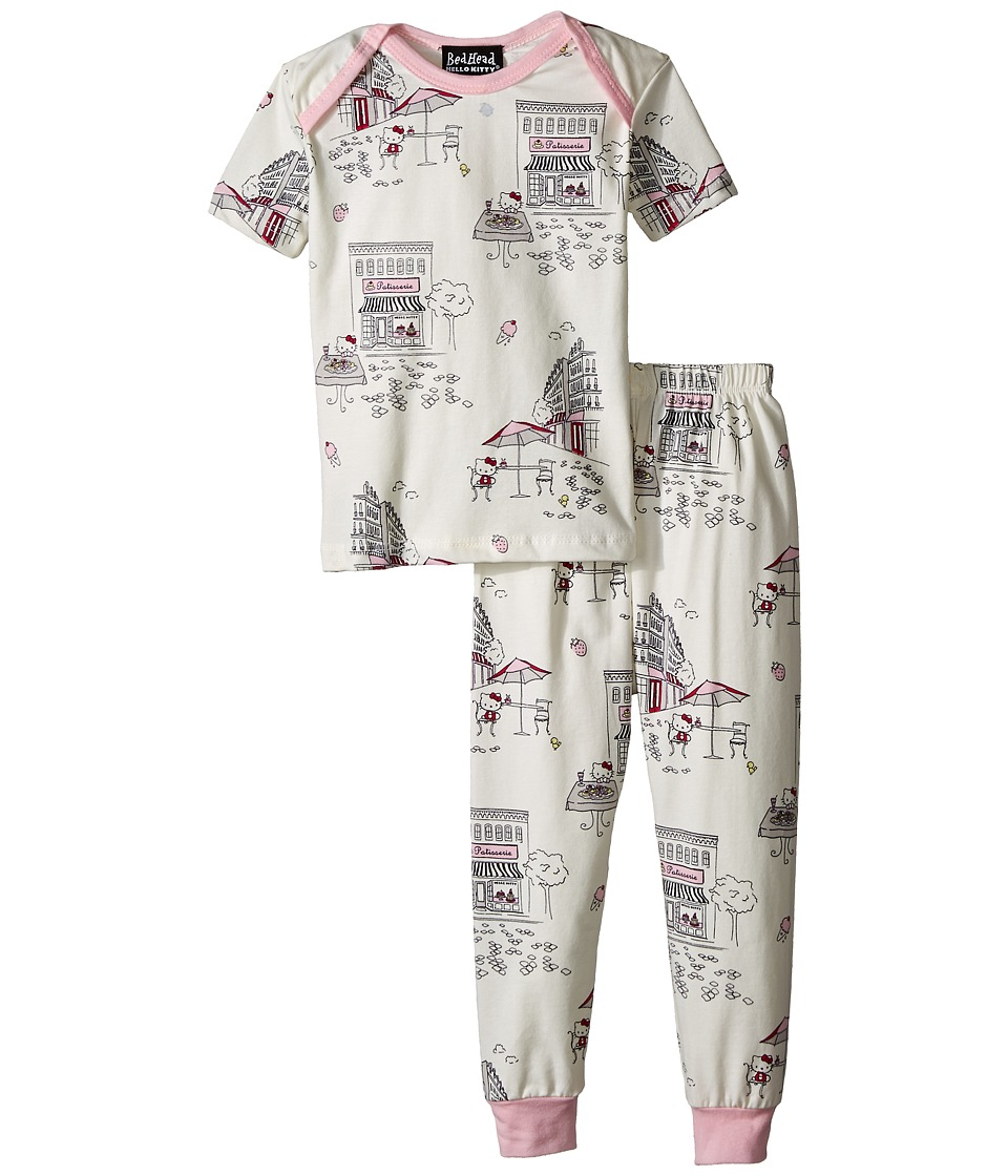 BedHead Kids - Short Sleeve Two-Piece Baby Set (Infant) (Hello Kitty Cafe) Girl's Pajama Sets
