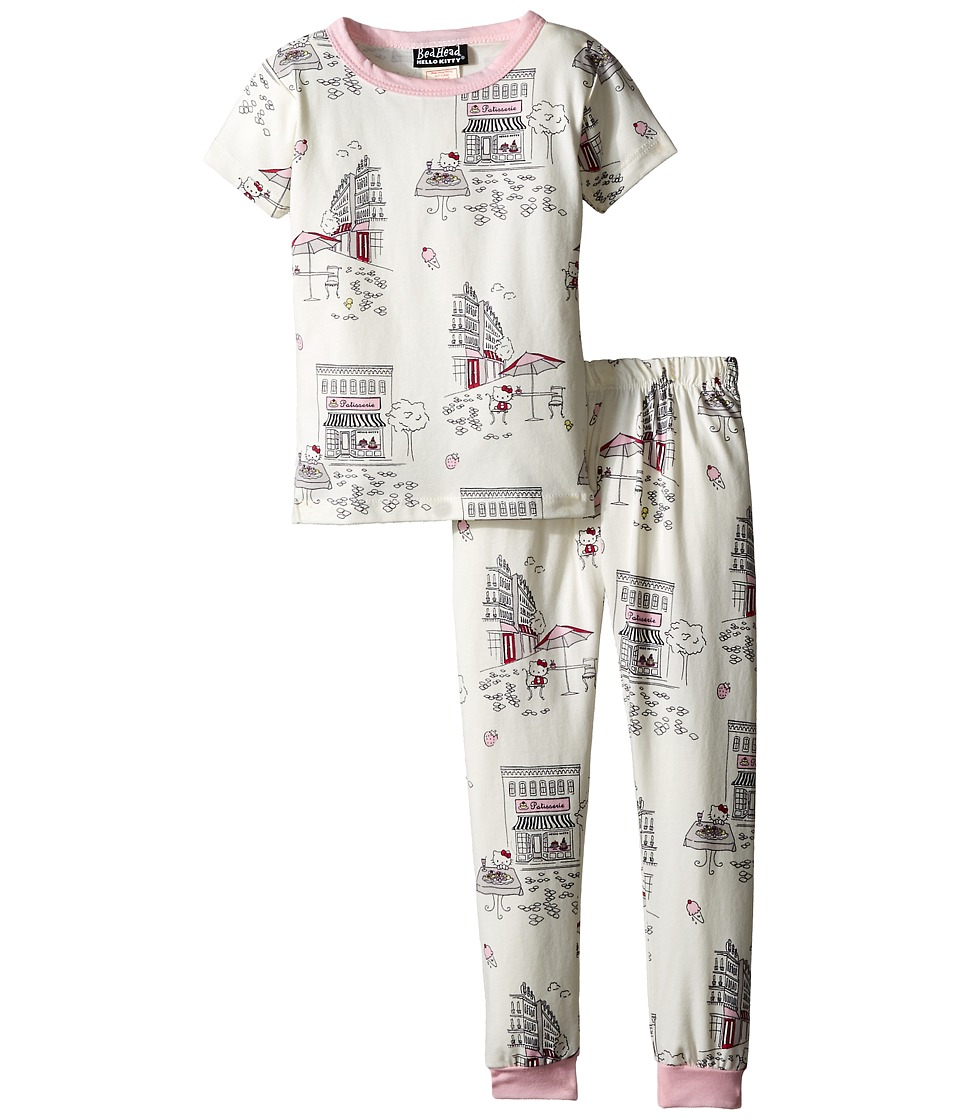 BedHead Kids - Short Sleeve Two-Piece Kid Set (Toddler/Little Kids) (Hello Kitty Cafe) Girl's Pajama Sets