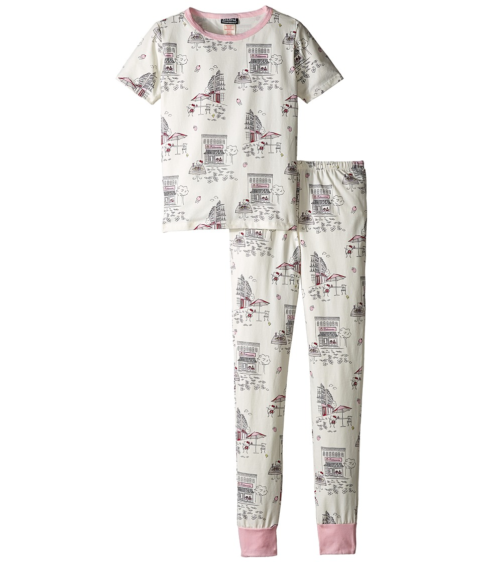 BedHead Kids - Short Sleeve Two-Piece Teen Set (Big Kids) (Hello Kitty Cafe) Girl's Pajama Sets