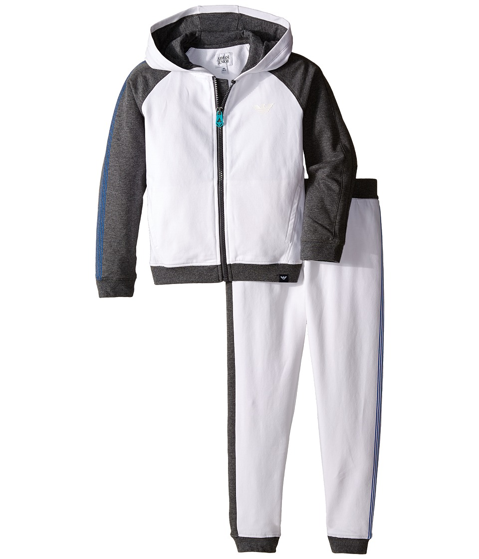 Armani Junior - Sweat Track Suit (Toddler/Little Kids/Big Kids) (Grey/Blue) Boy's Suits Sets