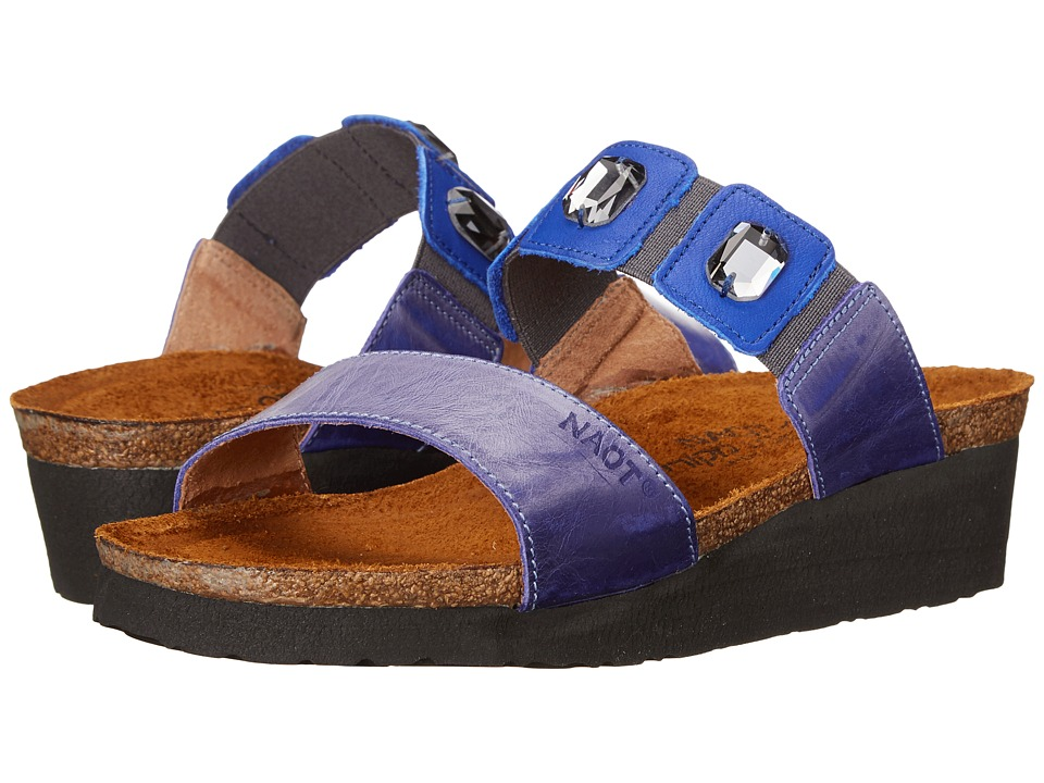 Naot Footwear - Michele (Sky Blue Leather/Royal Blue Leather) Women's Sandals