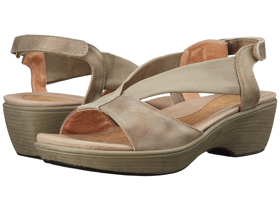 Naot Footwear - Muscat (Vintage Beige Leather/Beige Stretch) Women's Sandals
