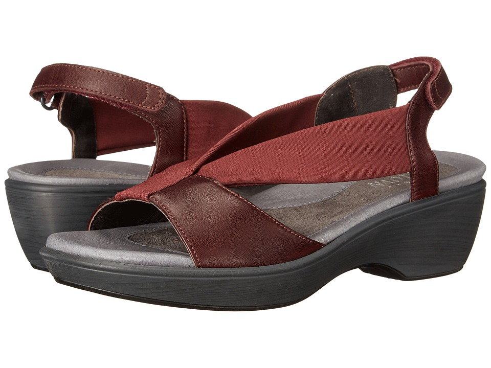 Naot Footwear - Muscat (Deep Shiraz Leather/Bordeux Stretch) Women's Sandals