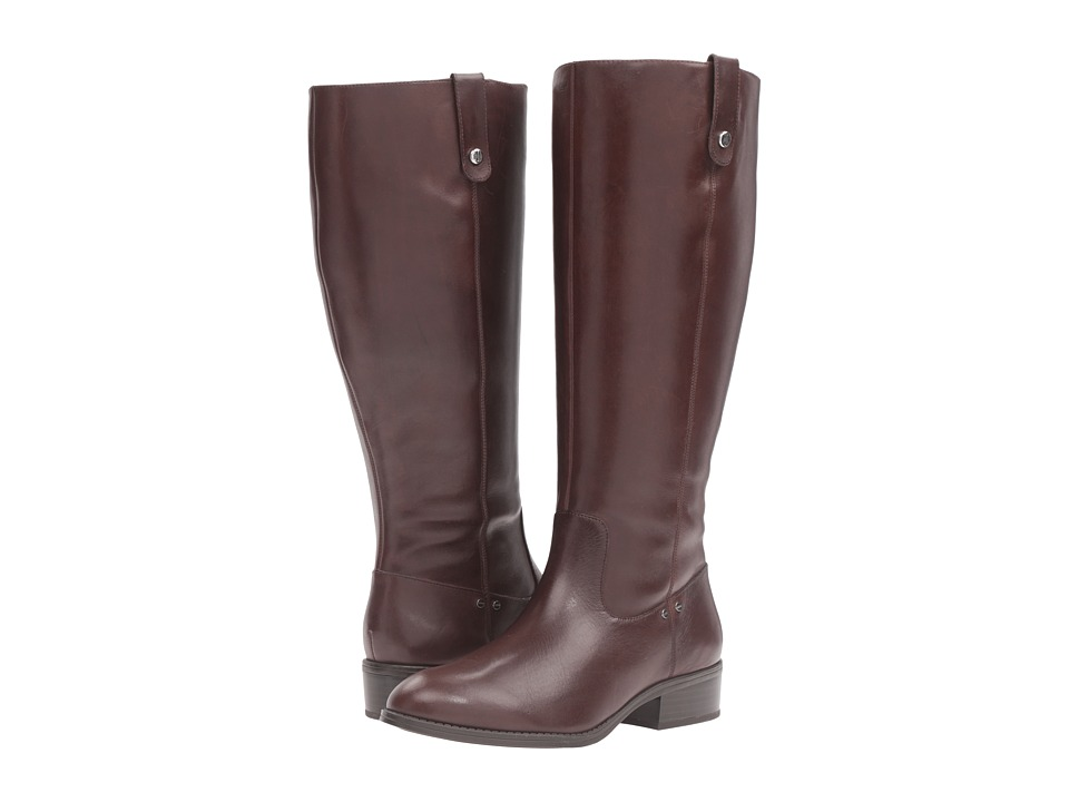 LAUREN Ralph Lauren Masika Wide Calf (Dark Brown Burnished Calf) Women
