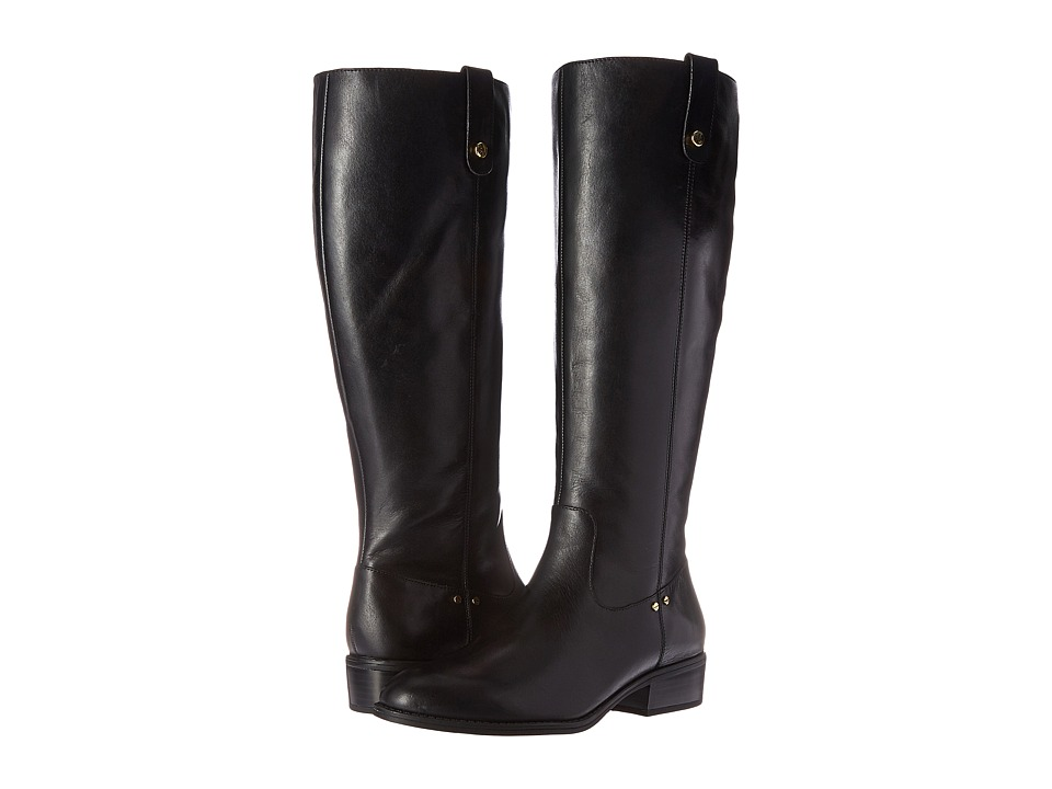 LAUREN Ralph Lauren - Masika Wide Calf (Black Burnished Calf) Women's Boots