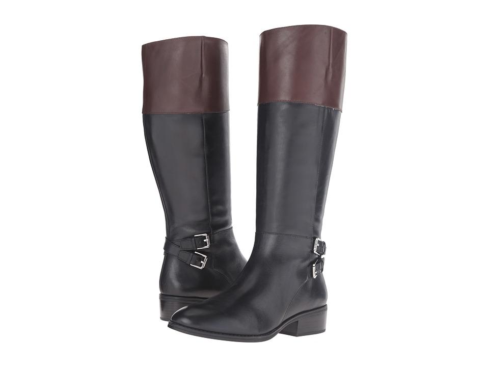 LAUREN Ralph Lauren - Marba (Black/Dark Brown Burnished Calf) Women's Boots