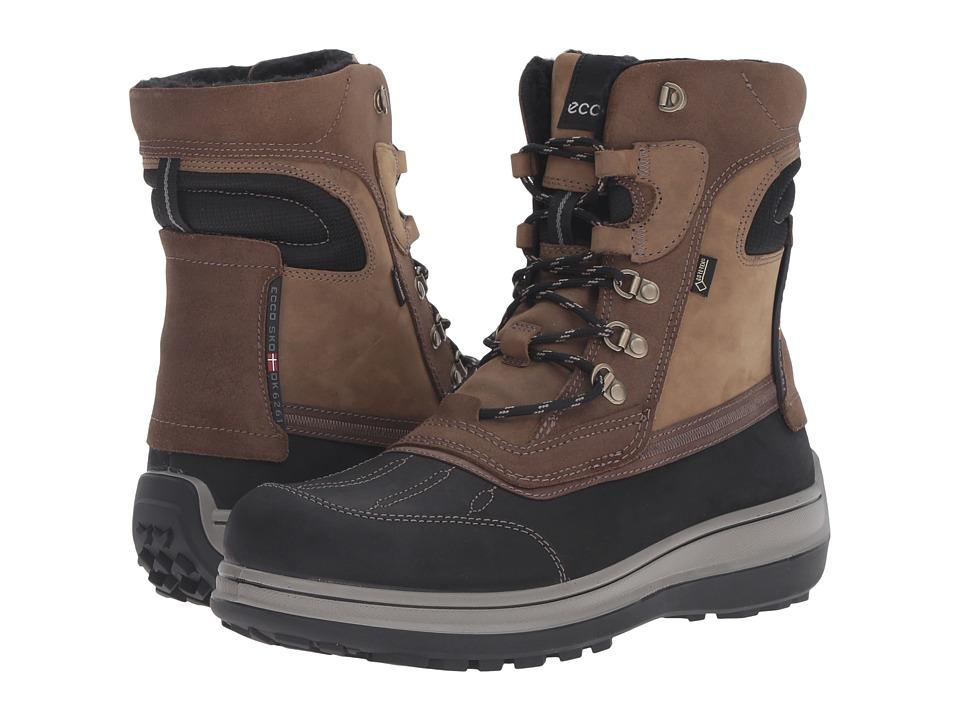 ECCO - Roxton GTX Boots (Black/Coffee) Men's Shoes