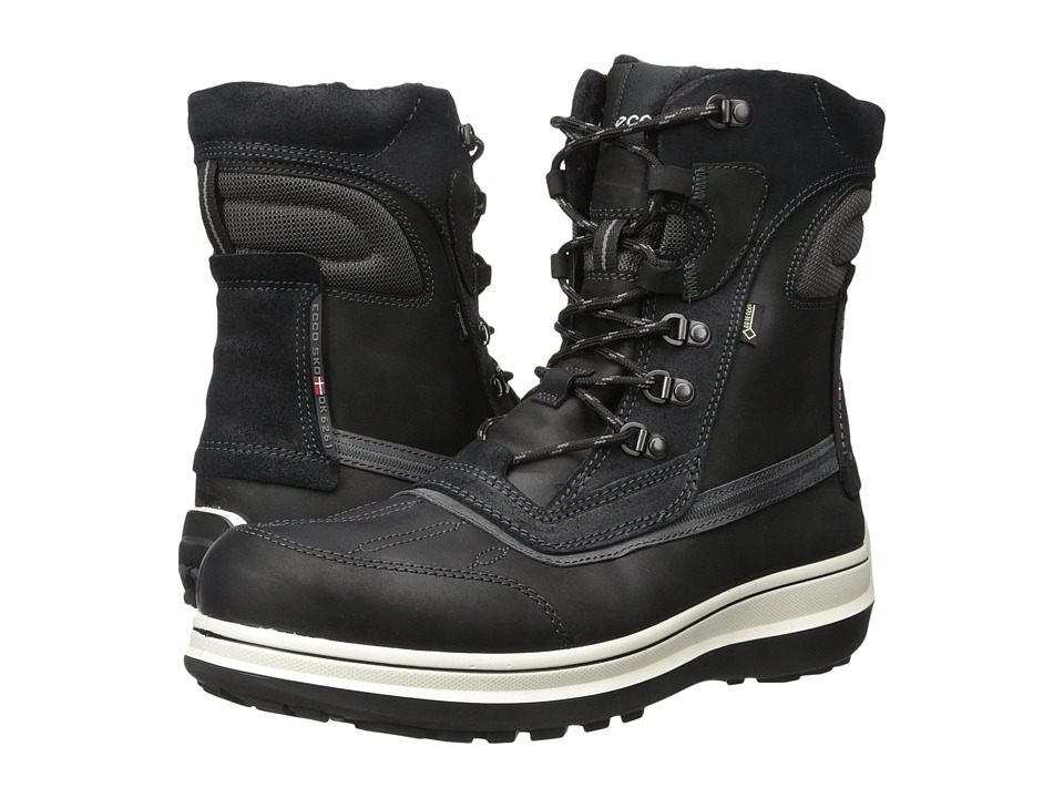 ECCO Roxton GTX Boots (Black/Moonless) Men