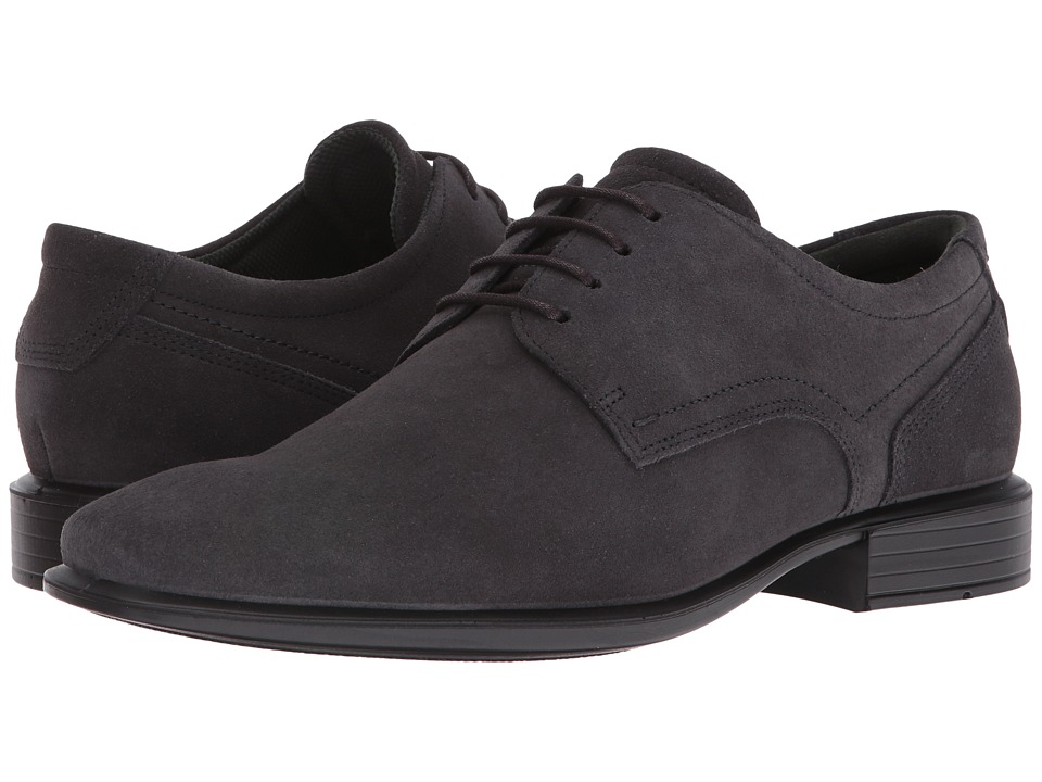 ECCO - Cairo Modern Tie (Moonless) Men's Shoes