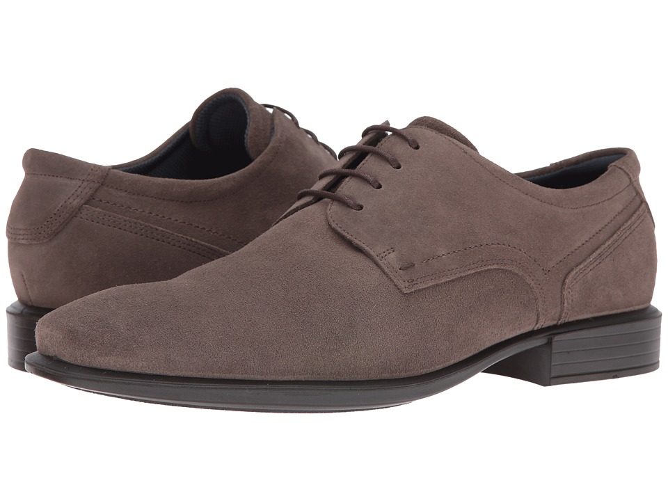 ECCO - Cairo Modern Tie (Dark Clay) Men's Shoes