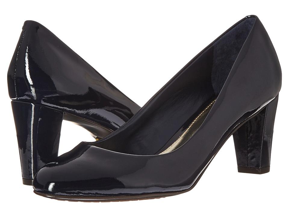 LAUREN Ralph Lauren Hala Modern Navy Patent Leather Womens Shoes