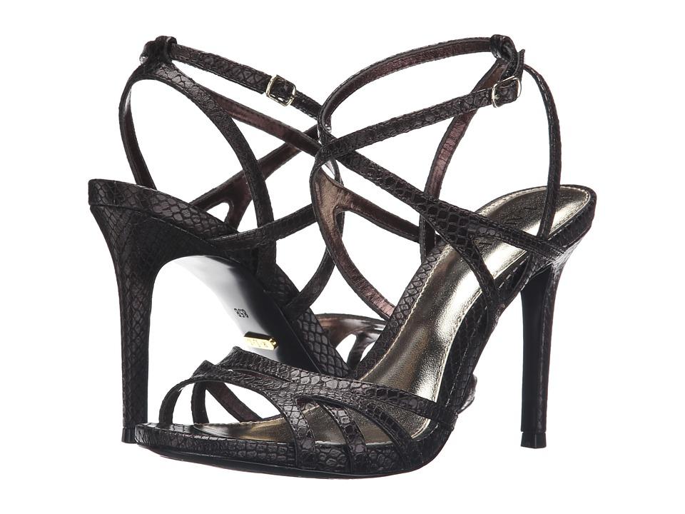 LAUREN Ralph Lauren Talulla (Oxidized Brown Metallic Debossed Faux Snake Leather) Women