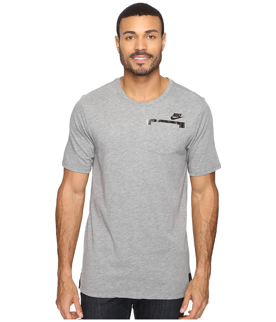 Nike - Sportswear T-Shirt (Carbon Heather/Carbon Heather/Black) Men's T Shirt