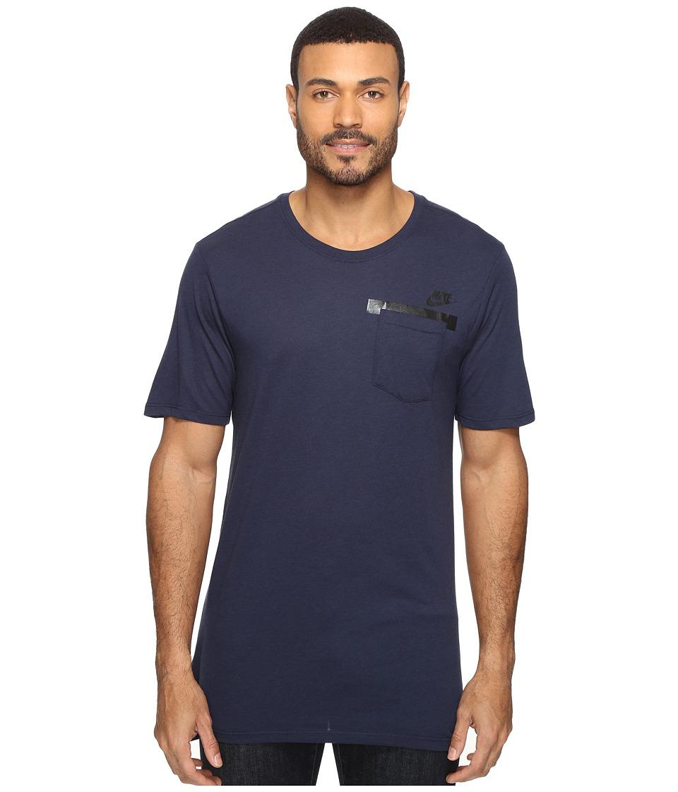 Nike - Sportswear T-Shirt (Obsidian/Obsidian/Black) Men's T Shirt