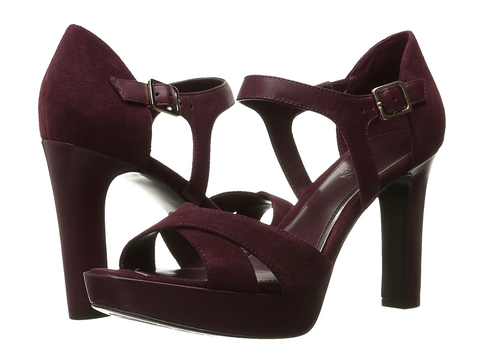 LAUREN Ralph Lauren - Senica (Claret Sport Suede/Soft Burnished Calf) Women's Shoes